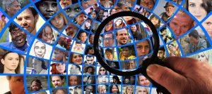 magnifying glass, human, head